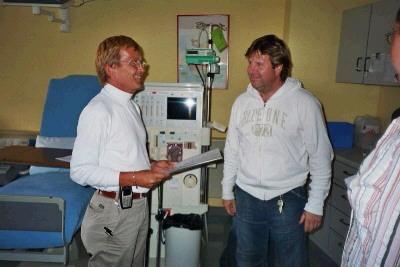 Besuch einer Station für dialysepflichtige Kinder